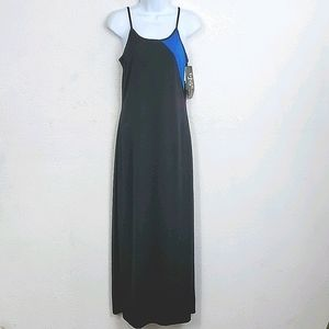 NWT  Dawn Joy sz 9 - 10 black sheath maxi dress